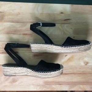 suede espadrilles with ankle straps